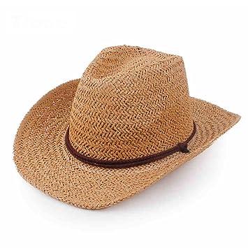 Sombreros GHMM Paja para niños Playa de Verano para Hombres Vaquero  Occidental para Viajes Vaquero Occidental 843c1ffec1d