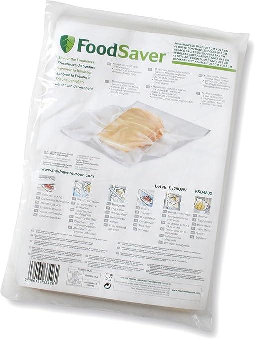 Foodsaver FSB4802-I-065 - Bolsas envasado al vacío, 20.7 x 29.2 cm ...