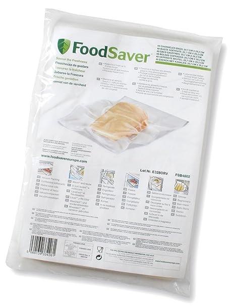 Foodsaver FSB4802-I-065 - Bolsas envasado al vacío, 20.7 x 29.2 cm