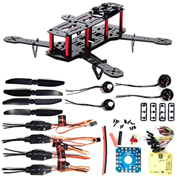 XCSOURCE Combo Kit Cuadracóptero 250 FPV 4 Ejes 3K Fibra Carbono ...