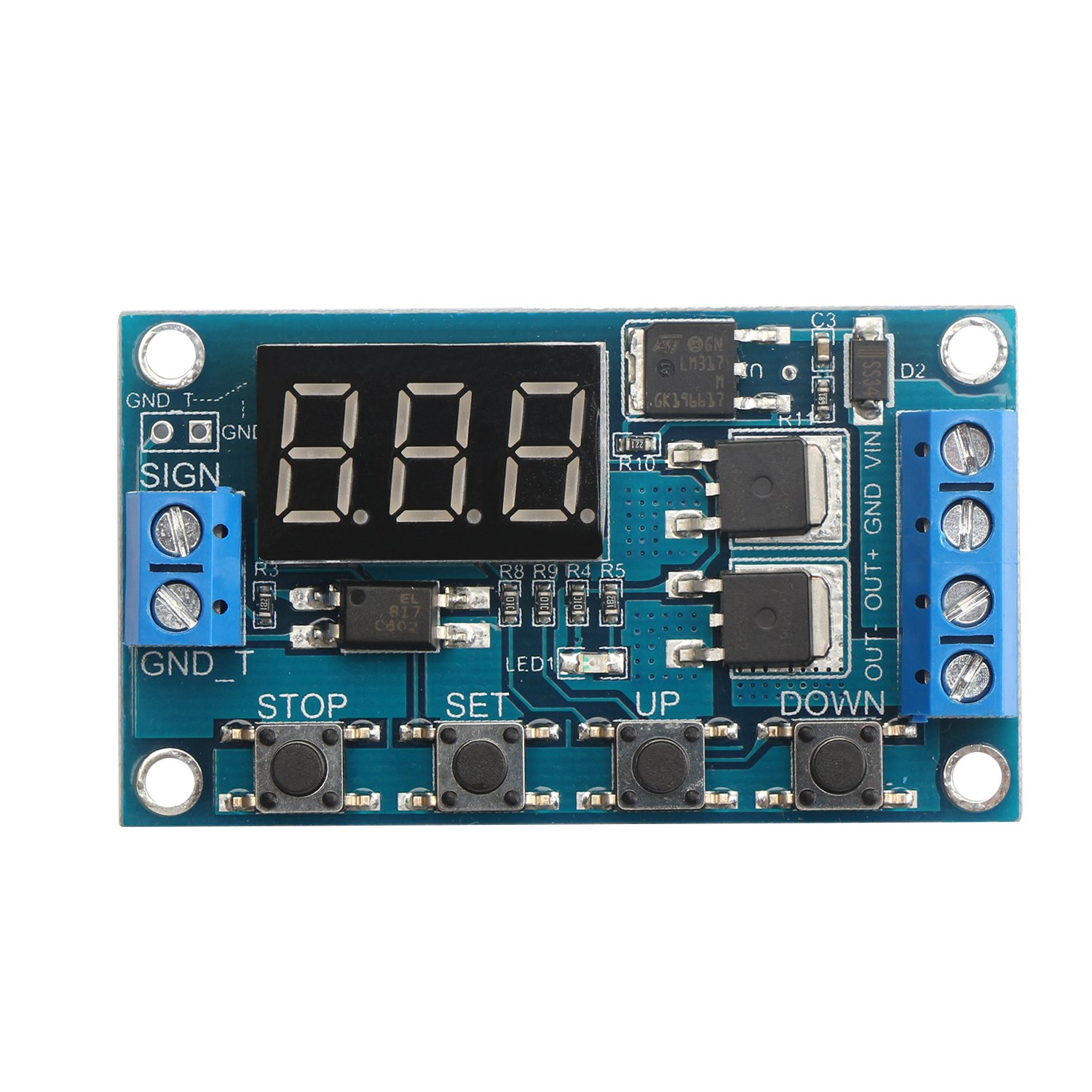 DROK Dual-MOS Cycle Time Delay Module, DC 5-36V On-Off Delay Timer ...
