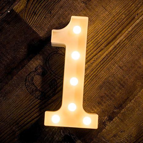 Yaogroo - Cartel de luces LED con 26 letras del alfabeto ...