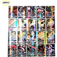 Carte Pokemon Francaise, 200PCS Poke TCG Cards Carte Flash Carte Pokémon A 200GX-11trainer 189gx Carte Pokemon Gx