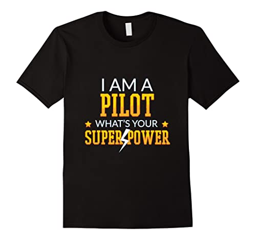 Mens I am Pilot Tee shirt Large Black