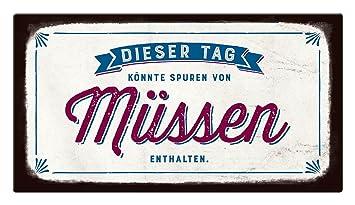 22 x 12 cm Uni Pappe Grafik-Werkstatt VintageArt Dieser Tag k/önnte Spuren von M/üssen enthalten Cardboard