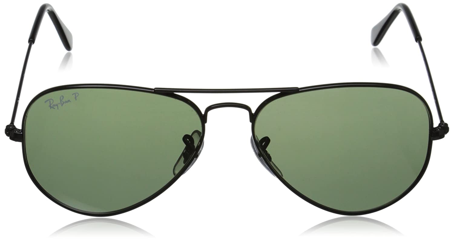 rb3025 55 polarized  Amazon.com: Ray-Ban AVIATOR LARGE METAL - BLACK Frame CRYSTAL ...