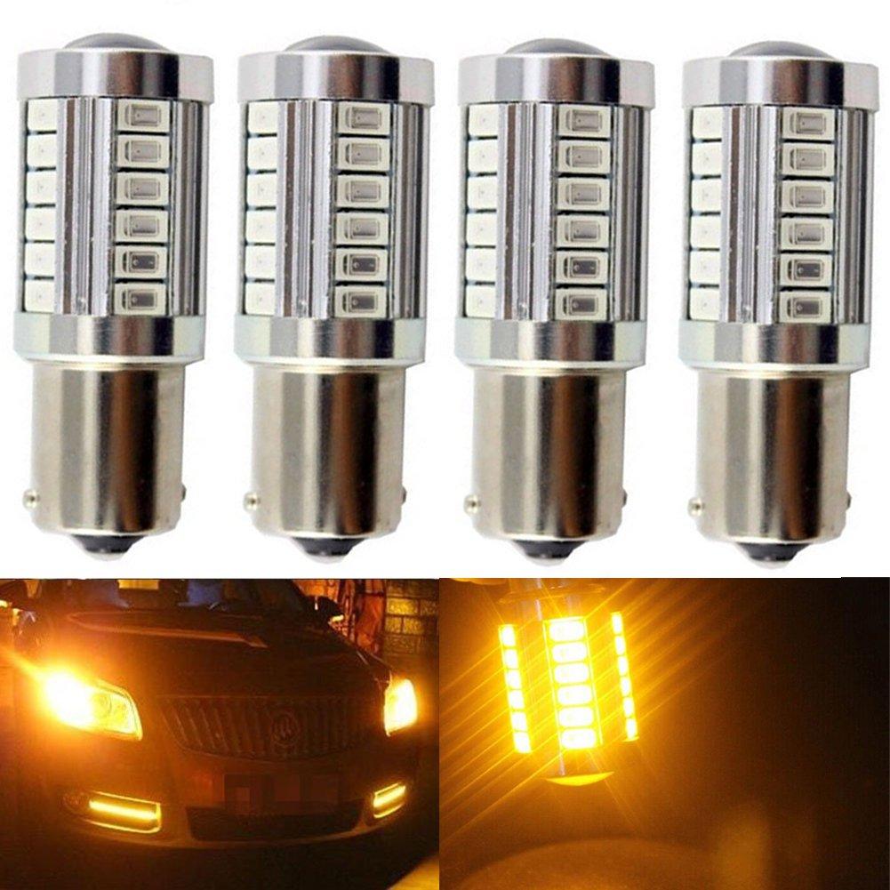 Paquetes de bombillas de repuesto LED blancas de 900 lúmenes y 8000 K, muy brillantes, para las luces traseras, de freno, de marcha atrás, intermitentes, ...