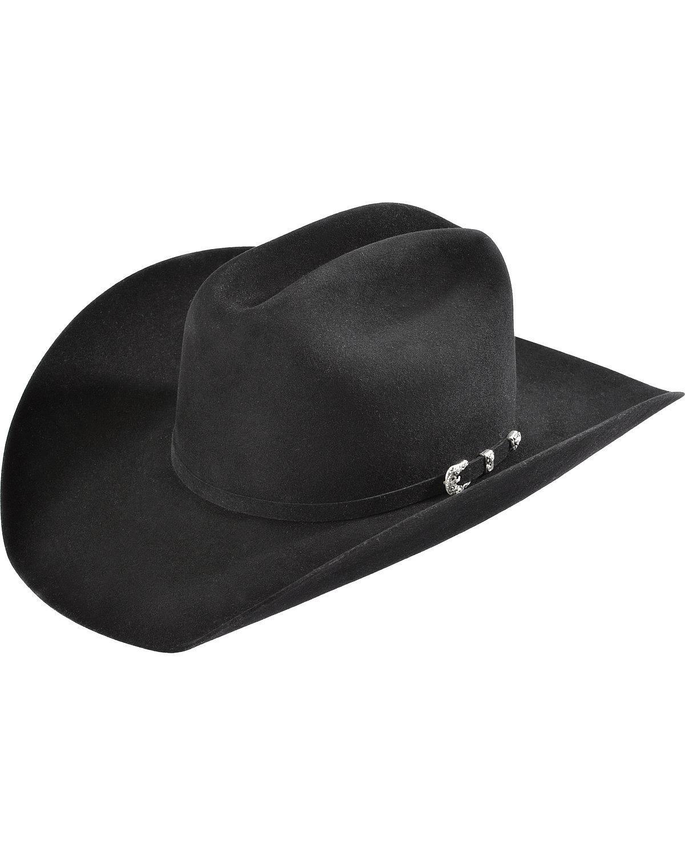 Justin Men's 8X Fur Felt Mustang Cowboy Hat Black 7