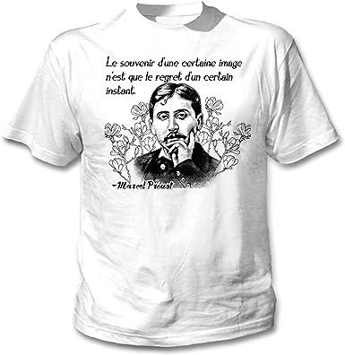 teesquare1st Marcel Proust Le Souvenir Camiseta Blanca para Hombre ...