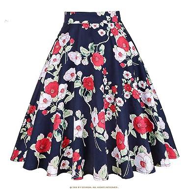 f270e93ee2 lc dress Black High Skirt Plus Size Polka Dot Floral Ladies Plaid ...