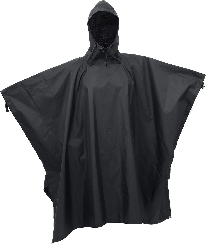 WATERPROOF CAMO PONCHO is hooded basha smock rain cover