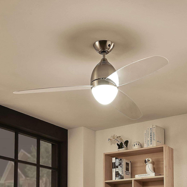 Ventilador de techo con lámpara Piara (Moderno) en Transparente ...