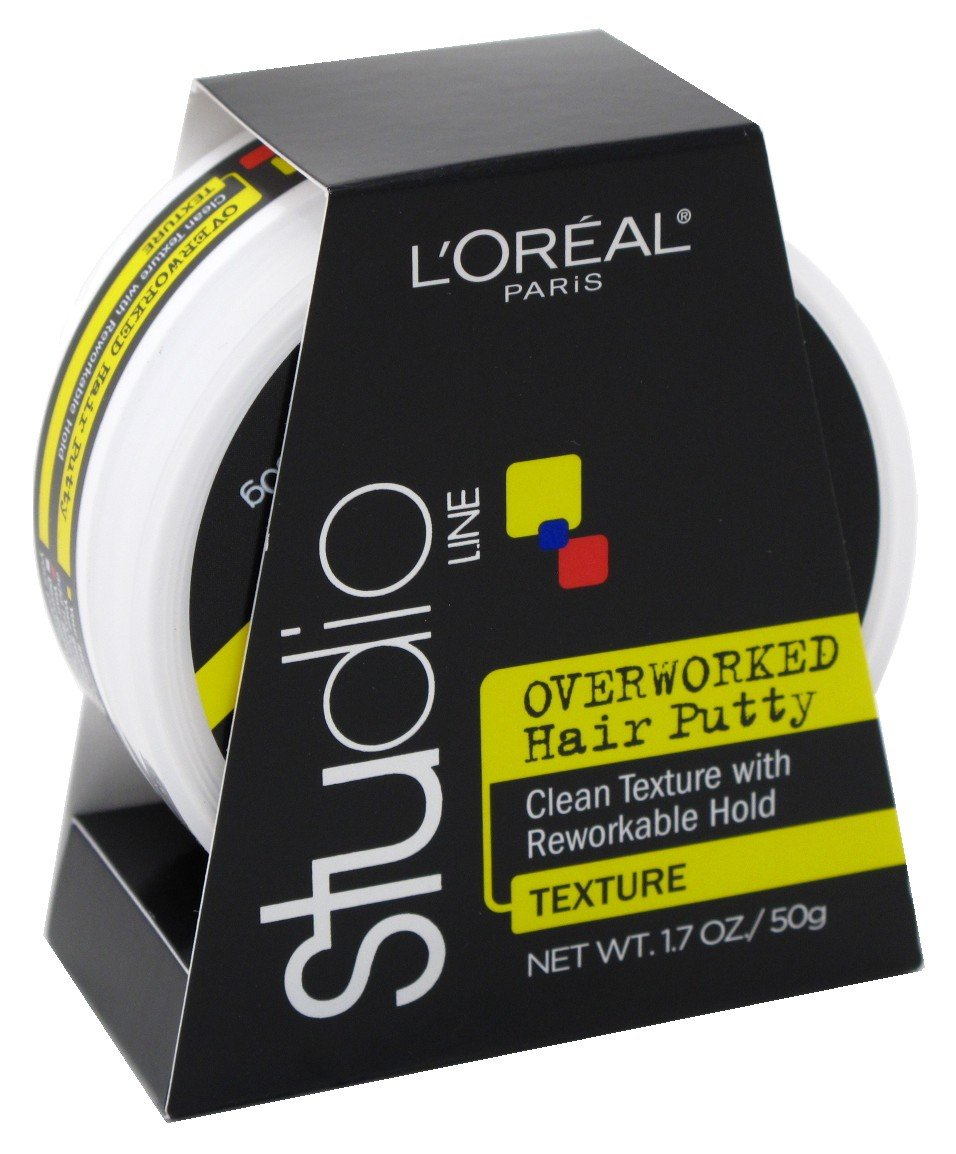 Loreal Studio Putty Overworked 1.7 Ounce (50ml) (6 Pack) by L'Oreal Paris