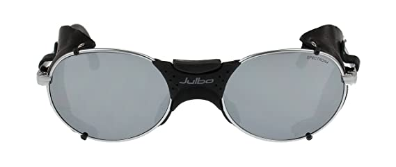 Amazon.com: Julbo Drus Sunglasses, Silver, Leather Shields ...