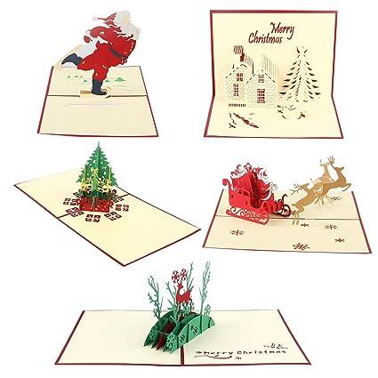 Cartoline 3d Natale Oulii Biglietto Di Auguri Natalizi Cartolina Pop