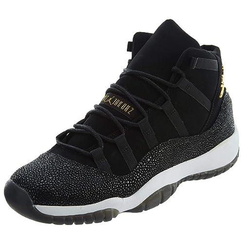 De Cuero Prem Hc Air Mujer 11 Nike Retro Zapatos Negro En Jordan WH9EDY2I