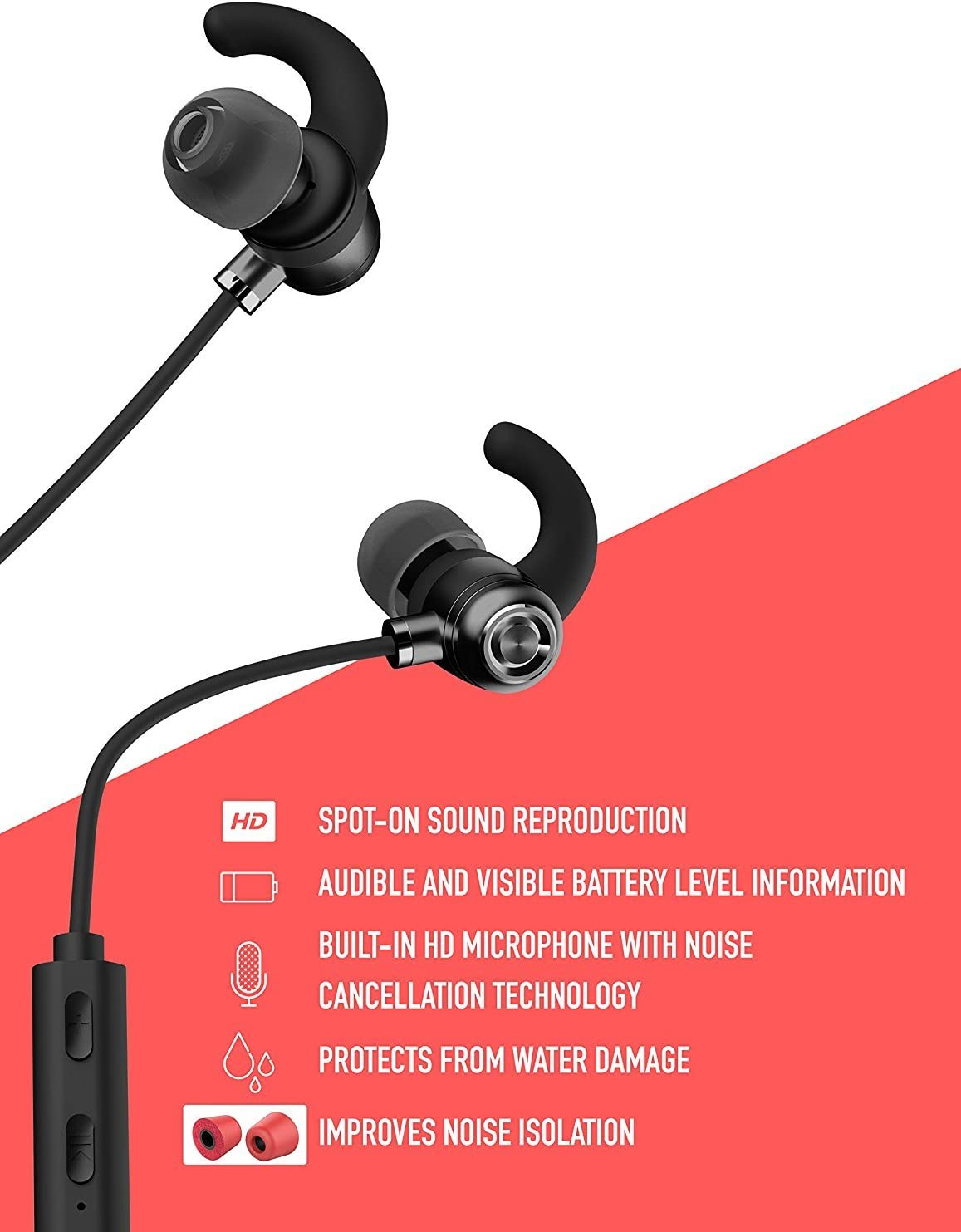 Apple Works with Boxgear LG X Style Bluetooth Headset in-Ear Running Earbuds IPX4 Waterproof with Mic Stereo Earphones CVC 6.0 Noise Cancellation Samsung,Google Pixel,LG
