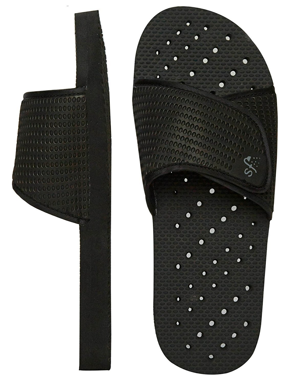 ecf162dbfde6 Amazon.com  Showaflops Mens  Antimicrobial Shower   Water Sandals for Pool