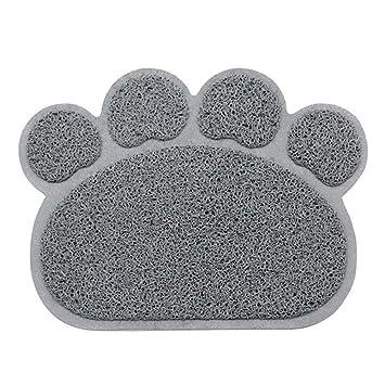 Shineweb Cute Paw Shape Dog Cat Clean Placemat Pet Dish Bowl Feeding Food Wipe Mat