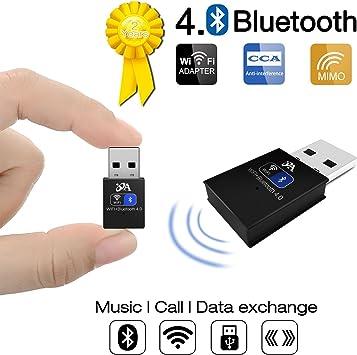 OKE Adaptador Bluetooth USB Dongle WiFi 150 Mbps con Antena Desmontable de 4 dBi para el Hogar, Viajes   Soporte PC, Laptop, Desktop compatible con ...
