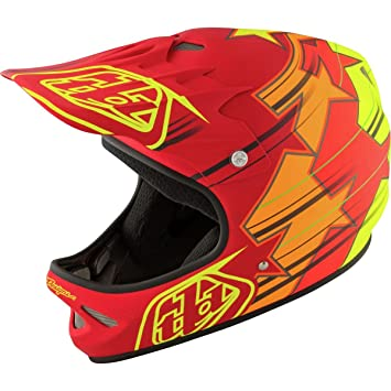 Troy Lee Designs Fusion adulto D2 bicicleta deportes casco de BMX, color rojo - Troy