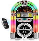 Pyle PJUB25BT Bluetooth Jukebox MP3 Speaker Player LED Lighting, AM/FM Radio,