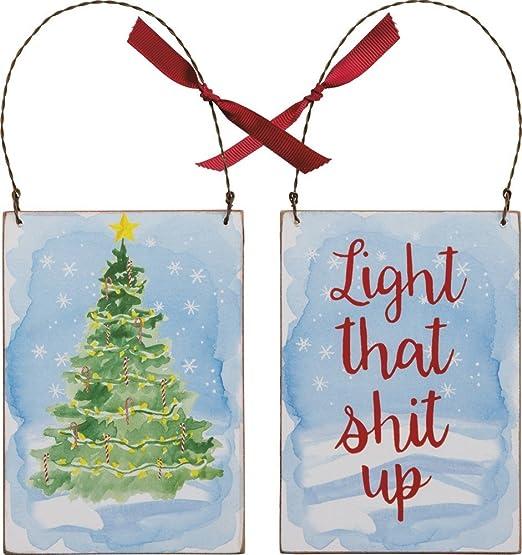 Primitives by Kathy Árbol de Navidad Luz de cartel de madera ...