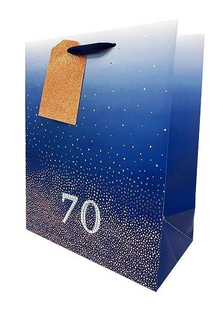Bolsas de regalo de 70 cumpleaños para hombre, tamaño grande ...