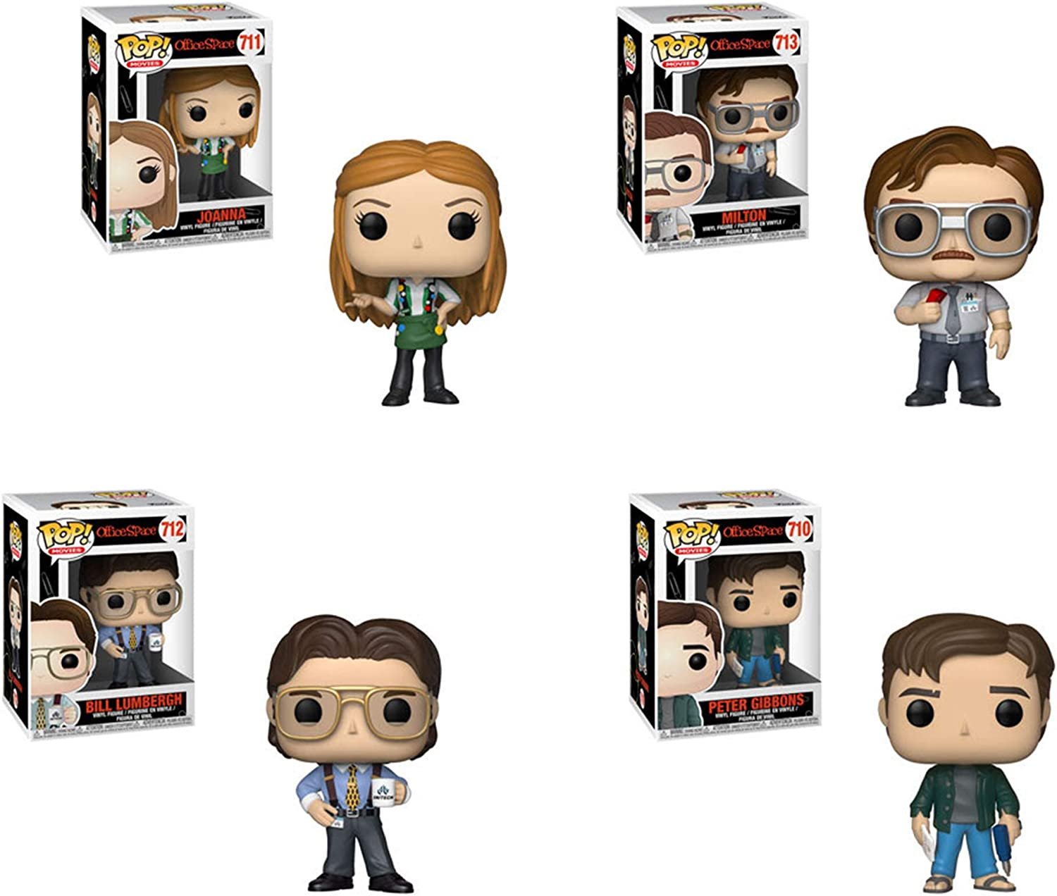Funko Pop!: Bundle of 4: Office Space - Milton Waddams, Joanna with Flair, Peter Gibbons and Bill Lumbergh