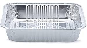 """DOBI 8"""" x 8"""" Square Baking Pans (30 Pack) - Standard Size Disposable Aluminum Foil Cake and brownie Tins"""