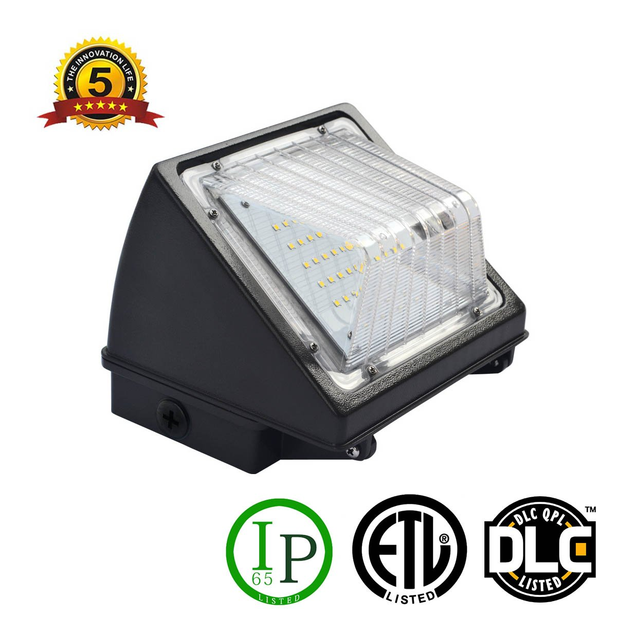 CPLED Light 90w Outdoor 9900Lumen Wall Lamp Super Bright/Energy Saving/Heat Dissipation/Waterproof IP65 for Warehouse Street Courtyard Sport Court Highway External Wall Industrial LED Wall Light by CPLED