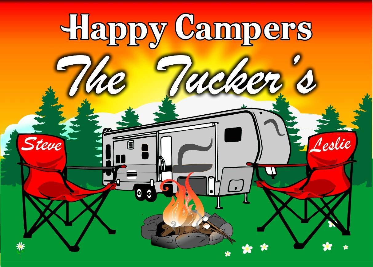 Amazon.com: Anchor Graphix Happy Campers personalizado ...