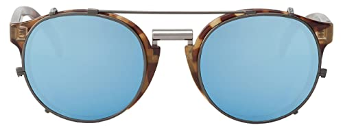MR.BOHO, High-Contrast tortoise newtown with sky blue lenses - Gafas De Sol unisex multicolor (carey...