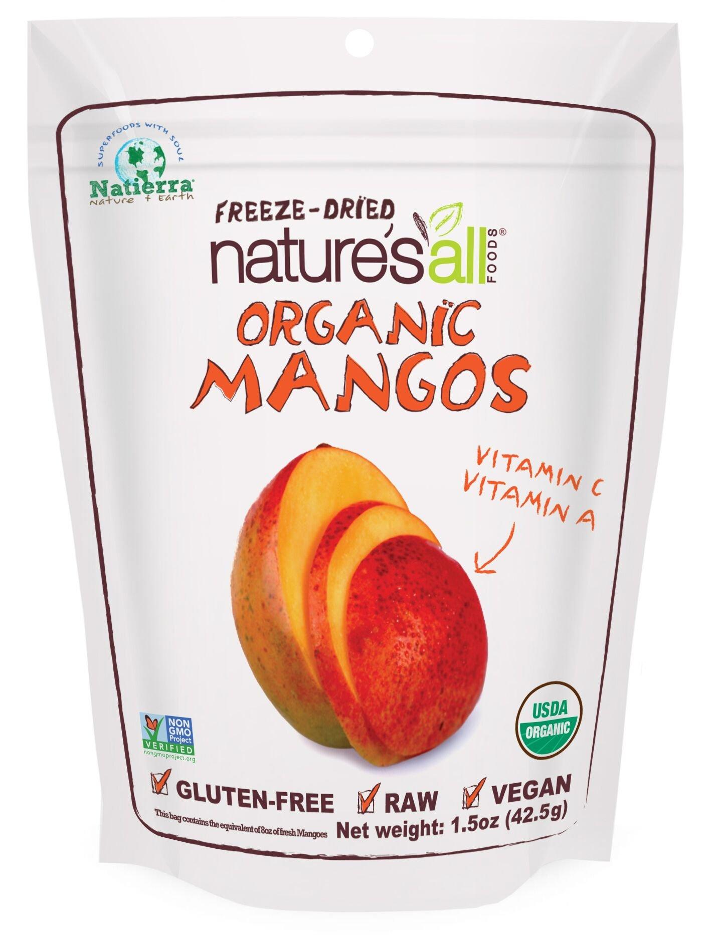 Natierra Nature's All Foods Organic Freeze-Dried Mangos, 1.5 Ounce