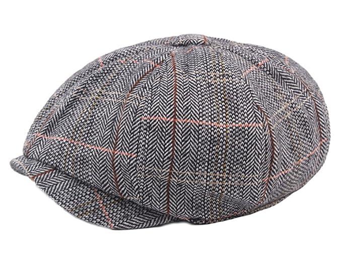 2b9c44836a6dd Men s Cotton Flat Ivy Gatsby Newsboy Hunting Hat Octagonal Hat Beret Cap  Grey