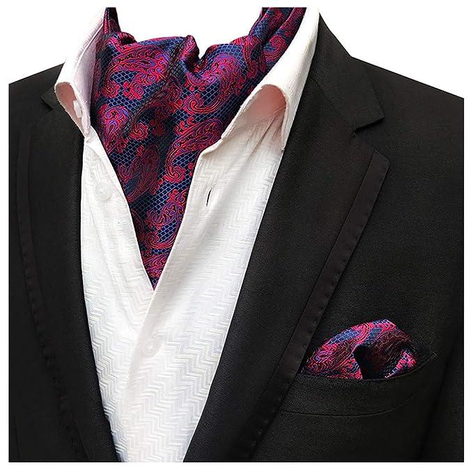 Amazon.com: mohslee de los hombres Paisley Cravat corbatas ...