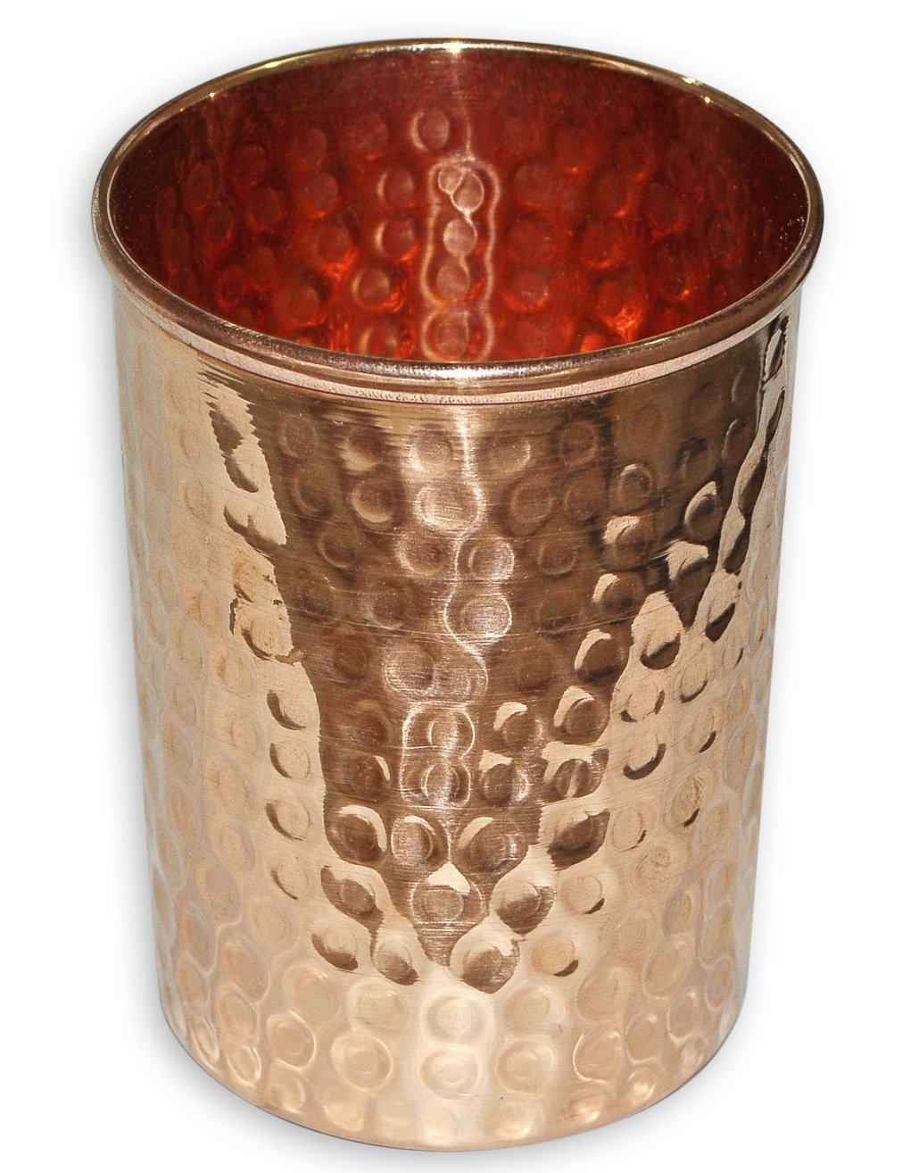 SKAVIJ Pure Copper Hammered Tumbler Ayurvedic Product for Healing Drinkware Accessory, Capacity 250 ML TG6