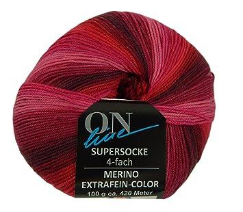 Online - Hilo de lana Superwash para calcetines de lana de Merino extrafina