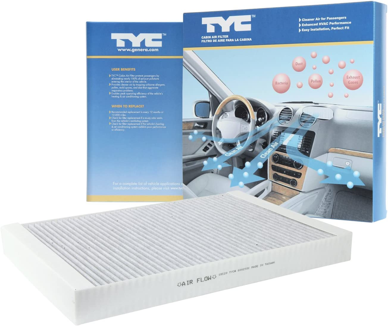 TYC 800067C Cabin Air Filter 800067C
