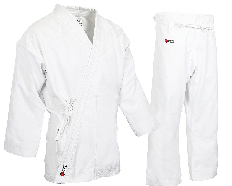 MACS 超厚手 空手ユニフォーム - ホワイト プロフェッショナル 着物 - 高度なコットン100% 14オンス 空手着 - 競技やトレーニングに最適
