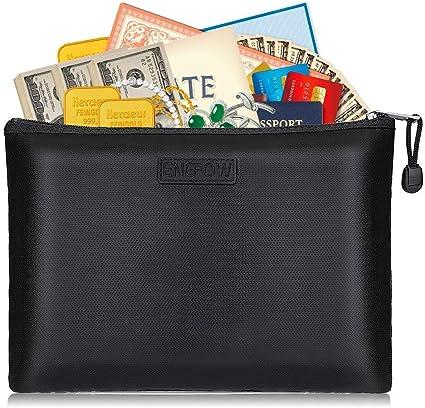 Feuerfeste Dokument Datei Tasche Geld Beutel Pass Wertsachen Silizium F0M7