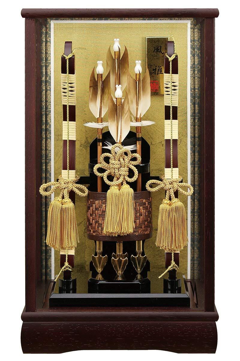 破魔弓 ケース飾り 花梨 風雅 10号 かぶせケース 面取ガラス h311-fz-1212-10-460 B00AA38GEY