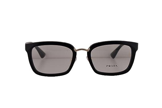 6acd2086f55f Prada PR09SV Eyeglasses 53-21-140 Shiny Black 1AB1O1 VPR09S For Women (FRAME  ONLY)  Amazon.co.uk  Clothing
