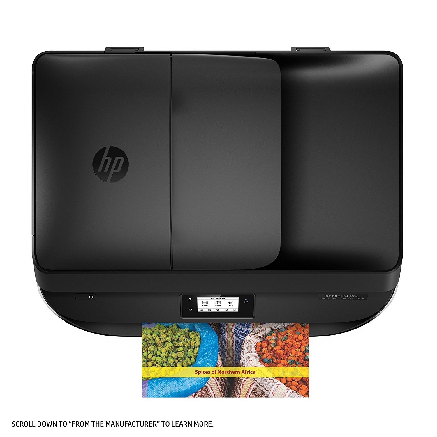 HP OfficeJet 4650 Wireless All-in-One Photo Printer, Copier and Scanner - Black (Certified Refurbished) by HP (Image #5)