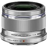 OLYMPUS M.ZUIKO DIGITAL 25mm F1.8 シルバー マイクロフォーサーズ用 単焦点レンズ