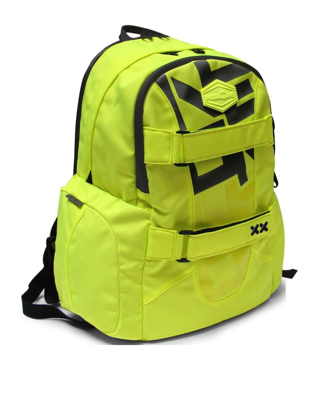 NEON Kit - Schoolpack Zaino Americano Giallo + Astuccio Bustina 2 Cerniere Coordinato.