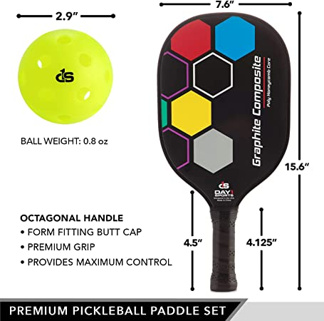 Details about  /Portable Pickleball Paddle Ball Game Training Sports Equipment Good Hand Feel