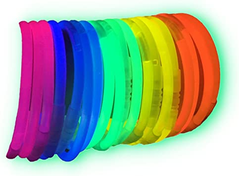 La Vida en Led 100 Pulseras Luminosas Glow Pack Multicolor ...