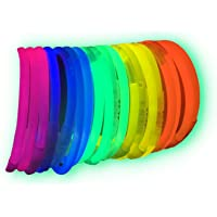 100 Pulseras luminosas glow pack fiesta ENTREGA 1-3
