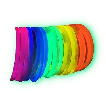 9c7341dee5d1 100 Pulseras luminosas glow pack multicolor ENTREGA 1-3 DÍAS  Amazon.es   Deportes y aire libre